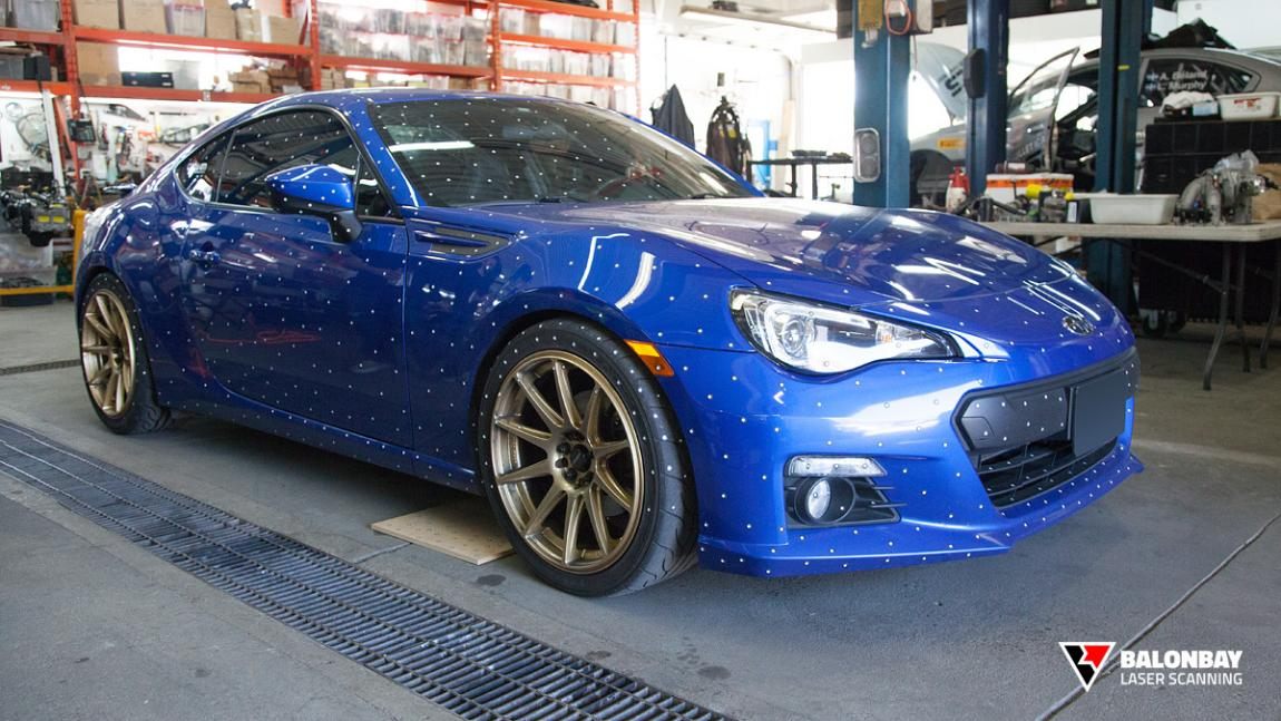 Balonbay 3D Laser Scanning for the Greater Toronto Area Subaru BRZ