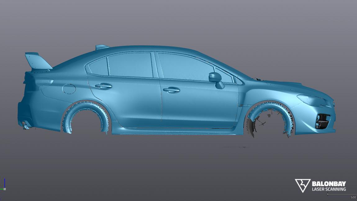 Balonbay 3D Laser Scanning for Greater Toronto Area Subaru WRX